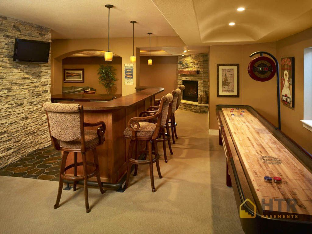 Basement finishing projects high tech renovation for Home bar renovation