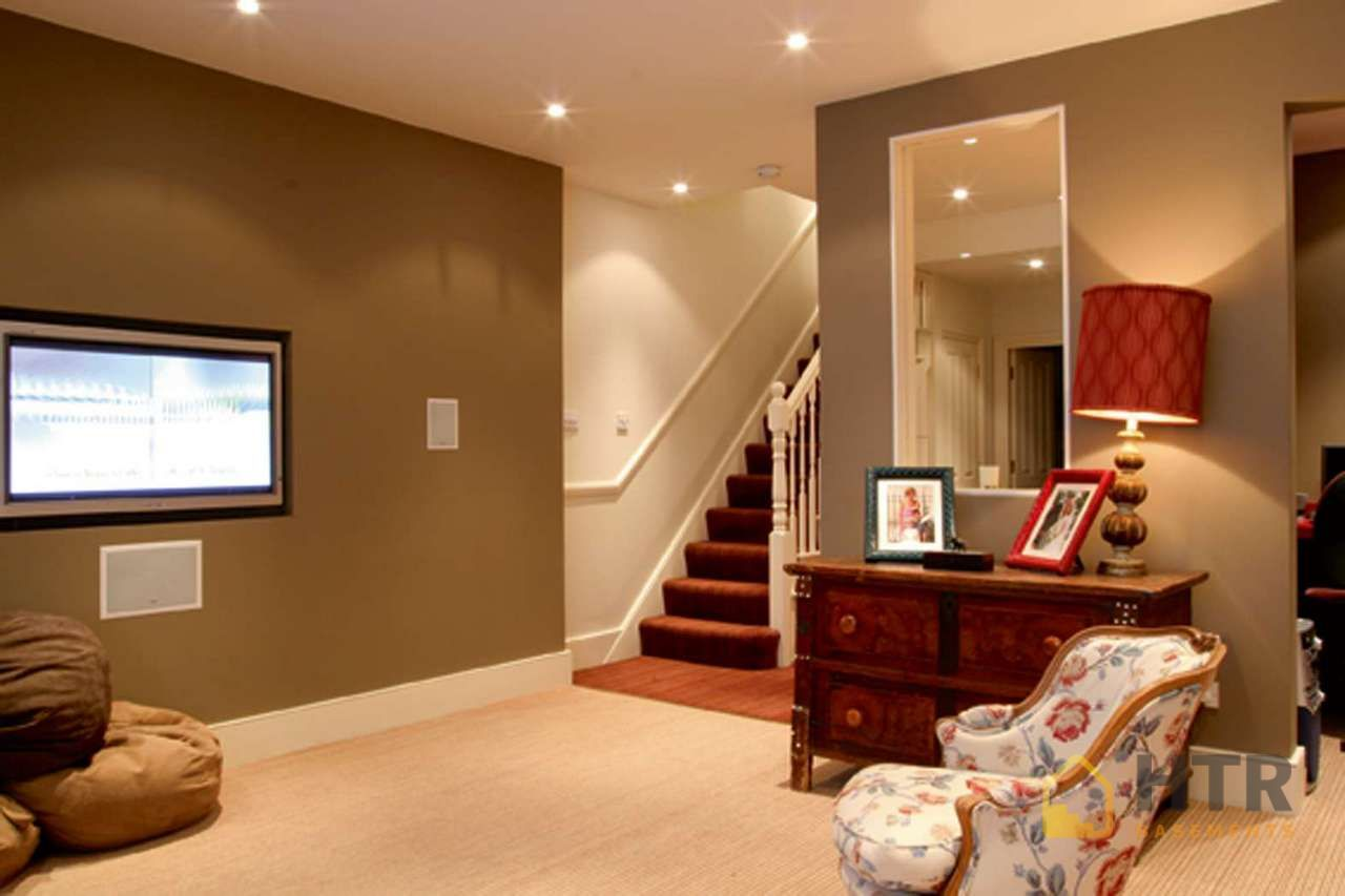 Basement Renovations - Feature Walls with Niche