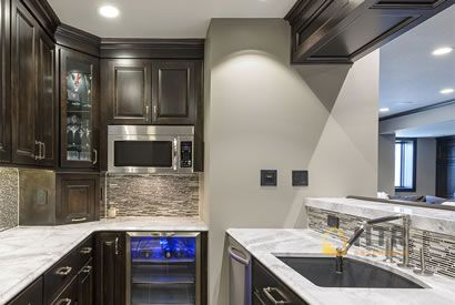 Basement Kitchens - Granite and Marble Counter Tops