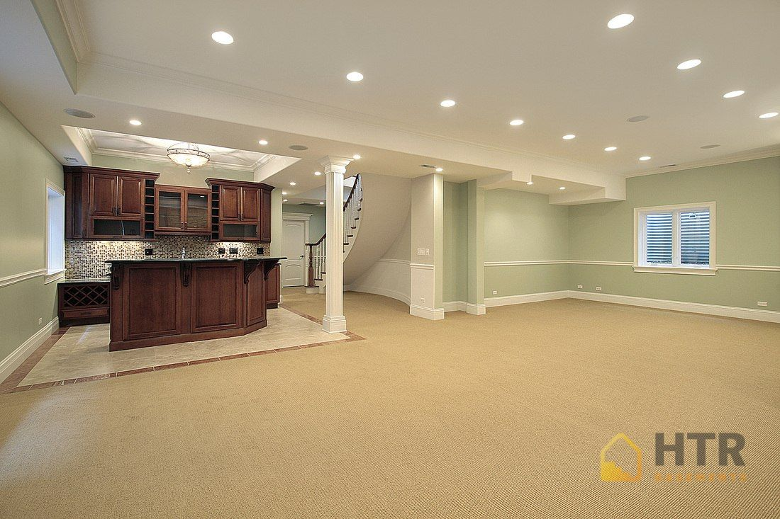 Basement finishing renovations basements finished in 2 for Basement cabinet ideas